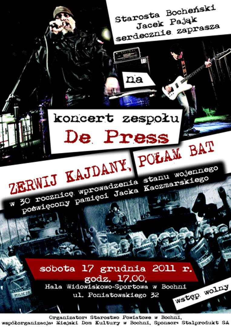 Koncert w Bochni poświęcony pamięci Jacka Kaczmarskiego