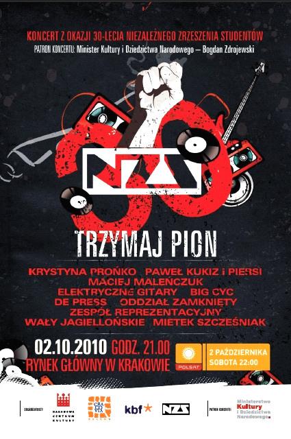 Trzymaj Pion - koncert na 30-lecie NZS