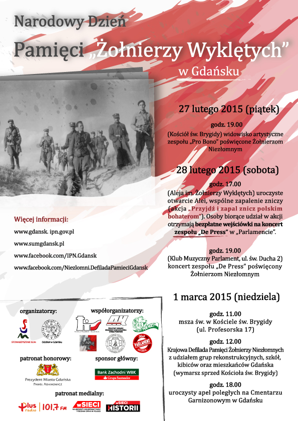 Pamięci Żołnierzy Niezłomnych, De Press